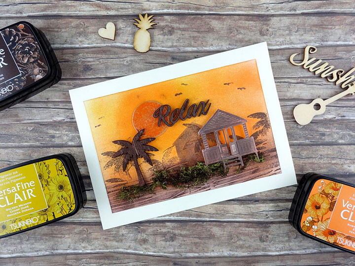 How to Create a Relaxing Sunset Card
