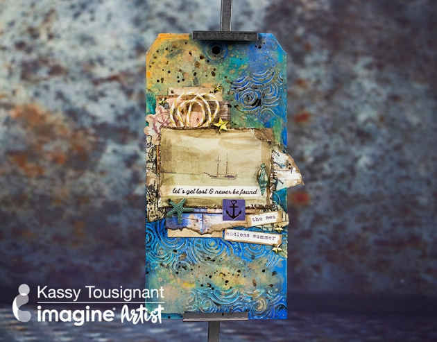 Watch A Video On Creating A Beautiful Mixed Media Tag.
