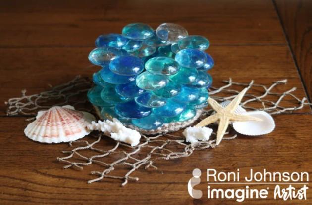 See How to Make a Glass Pebble Votive with StazOn Studio Glaze