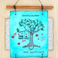 See How to Create a Family Tree Wall Hanging