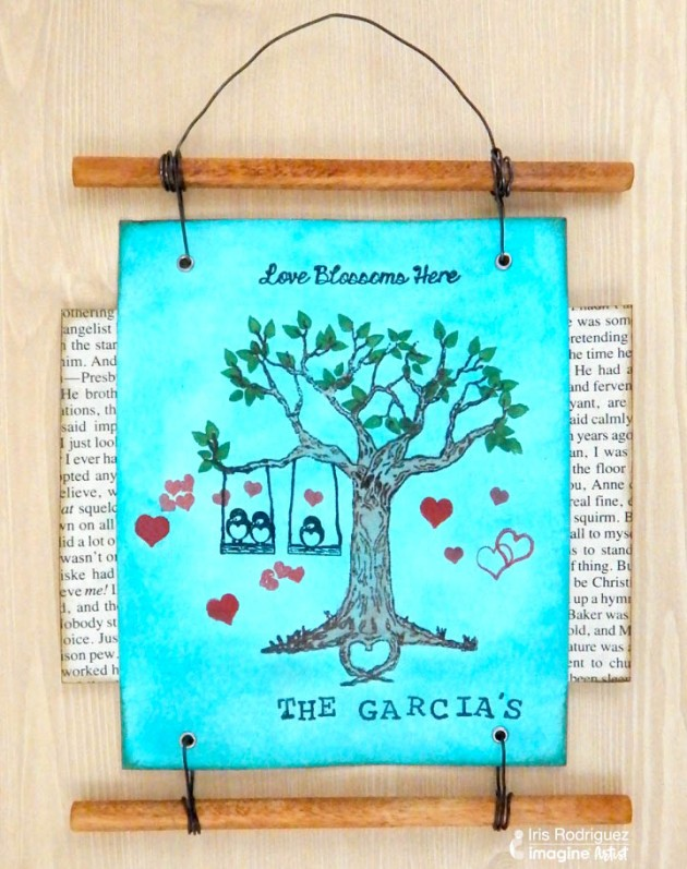See How to Create a Family Tree Wall Hanging using Tsukineko All-Purpose Ink and VersaFine Clair