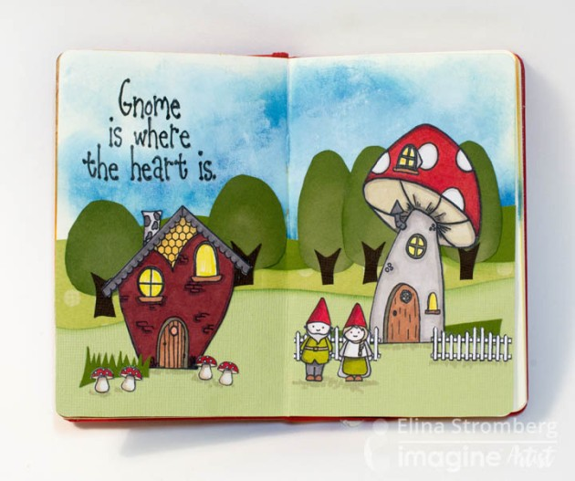 Add This Gnome Is Where The Heart Is to Your Art Journal