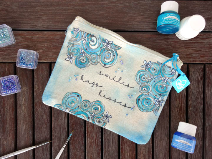 Stamp and Color a Bag with Fabric Inks