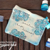 See How to Stamp and Color with Fabric Inks