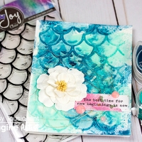 See How to Use Embossing Powder to Create Mermaid Scales