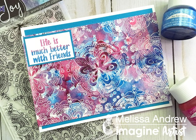 Create a Mixed Media Look with All Purpose Ink and Joy Clair Stamps