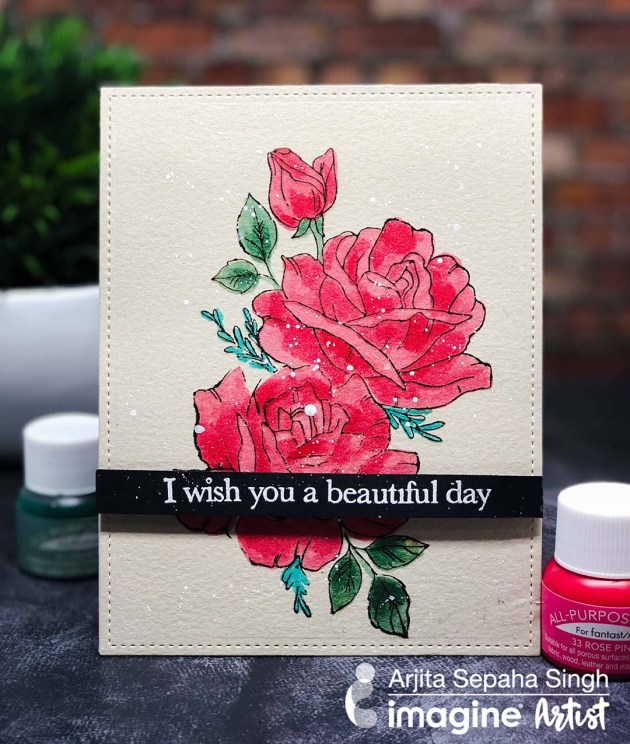 Create a Rose Card with All-Purpose Ink and Fantastix