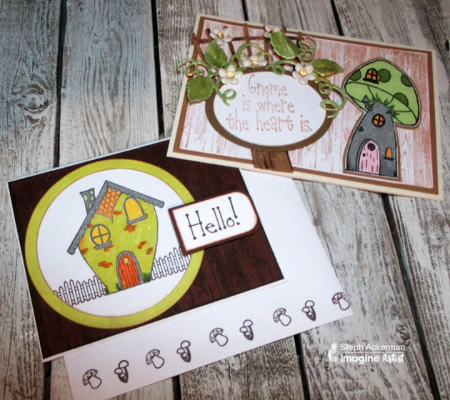 "Make a Cute ""Gnome is Where the Heart is"" Card. Joy Clair Stamps."