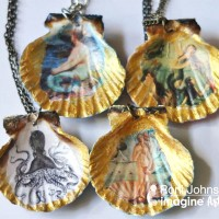 Create a Lovely Set of Seashell Golden Glow Necklaces