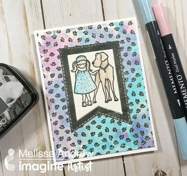 Watch a Video on Watercoloring with Memento Markers and VersaFine Clair!