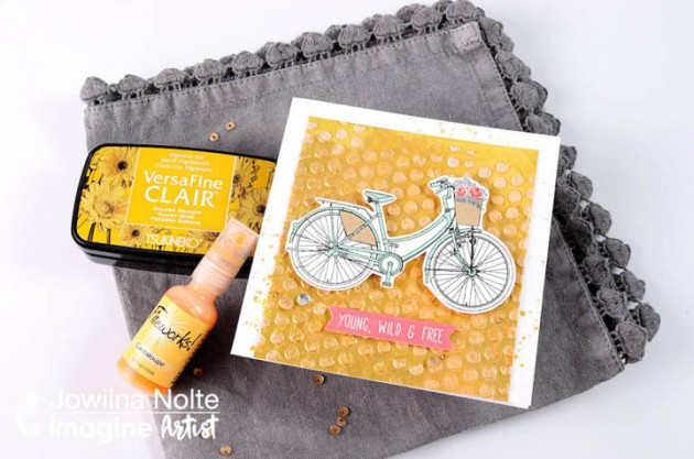 "Design a ""Live Wild & Free"" Themed Bicycle Card"