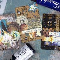 Prepare Bold ATC Cards with Bronze Highlights
