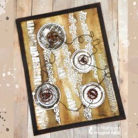 Create an Industrial Mixed Media Look with Walnut Ink