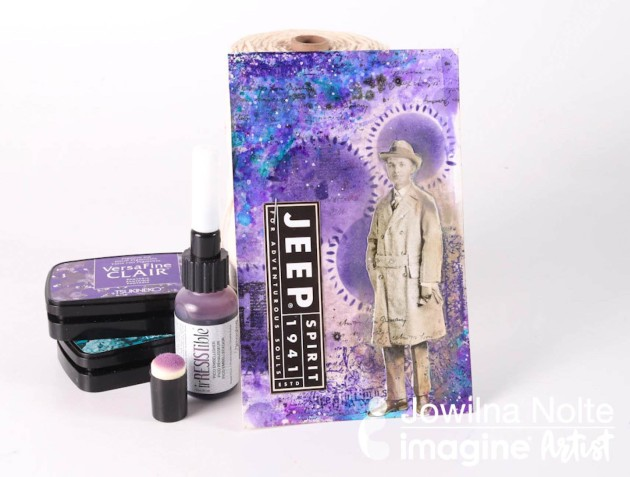 Use Shades of Lavender to Create a Mixed Media Card