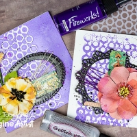 Create Two Matching Cards with One Stencil Application