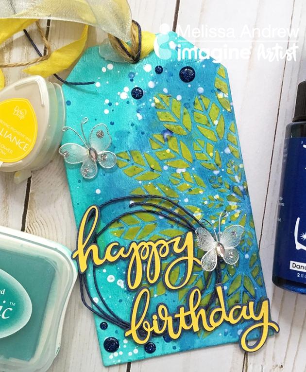 Make a Mixed Media Happy Birthday Tag