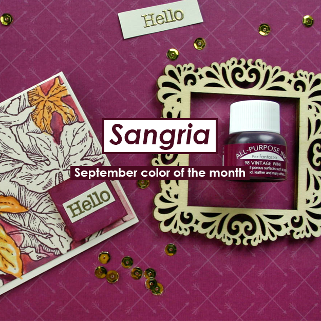 September Color of the Month is Sangria - Imagine Crafts and Tsukineko USA