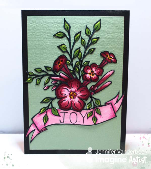 Create and Color a Beautiful Trumpet Flower Card
