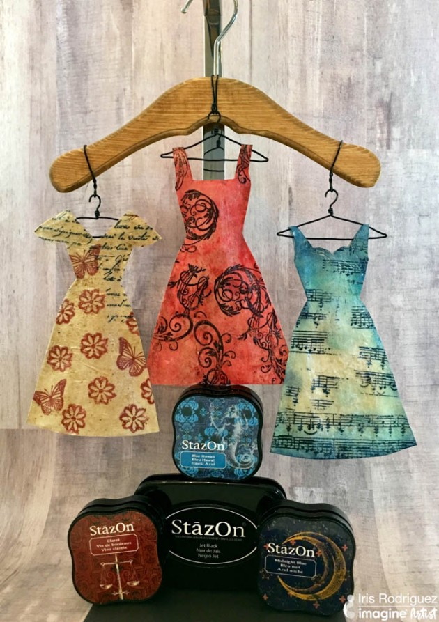 Create Paper Dresses With Stazon And Creative Medium