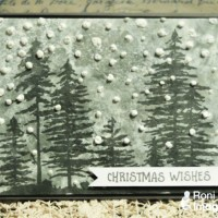 See How to Create Fun Snowy Texture for a Christmas Card