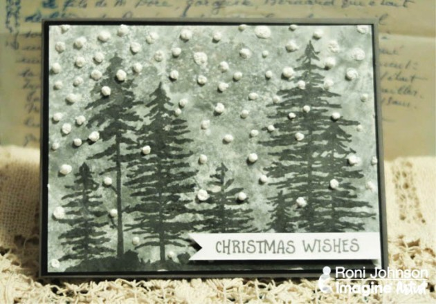 See How to Create Fun Snowy Texture for a Christmas Card with Radiant Neon Amplify in white