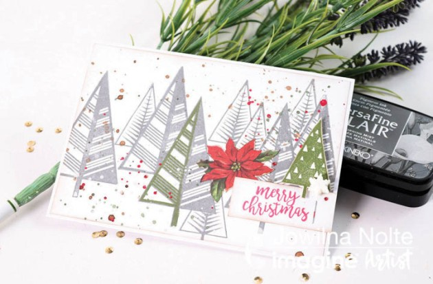 Create A Modern Christmas Card With Masking Technique