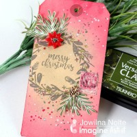 Create an Elegant Christmas Tag with Grey Ink