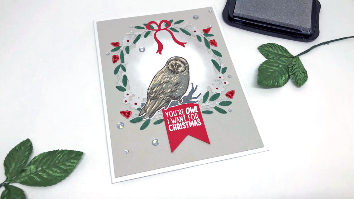 Quick and Easy Owl Christmas Card