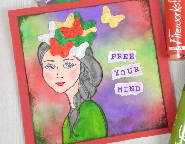 """Stamp the sentiment """"Free Your Mind"""""""