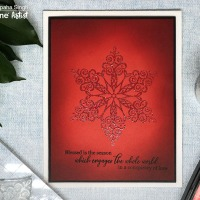Create a Glittery Snowflake on Glowing Red Background