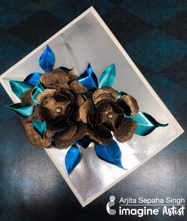 Learn How to Make Shiny 3D flowers using Rinea Foils