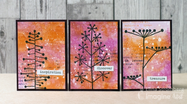 See How to Create a Beautiful Autumn Nature ATC Card Set