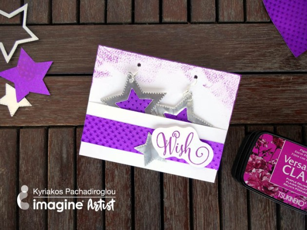 make a set of star earrings with a matching wish gift card