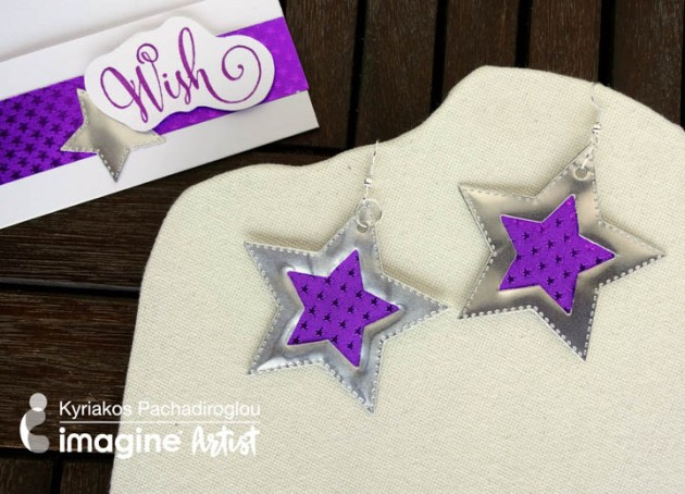 See How to Make Earrings with Rinea Foil