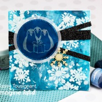 Learn How to Make a Holiday Card with a Gel Press and All-Purpose Ink
