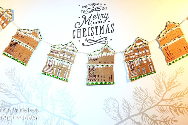 How to Make a Gingerbread House Garland
