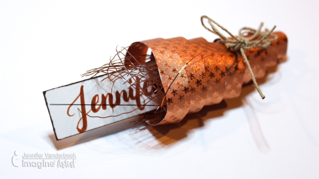 How to Make a Cornucopia Table Place Cards with Rinea Foil