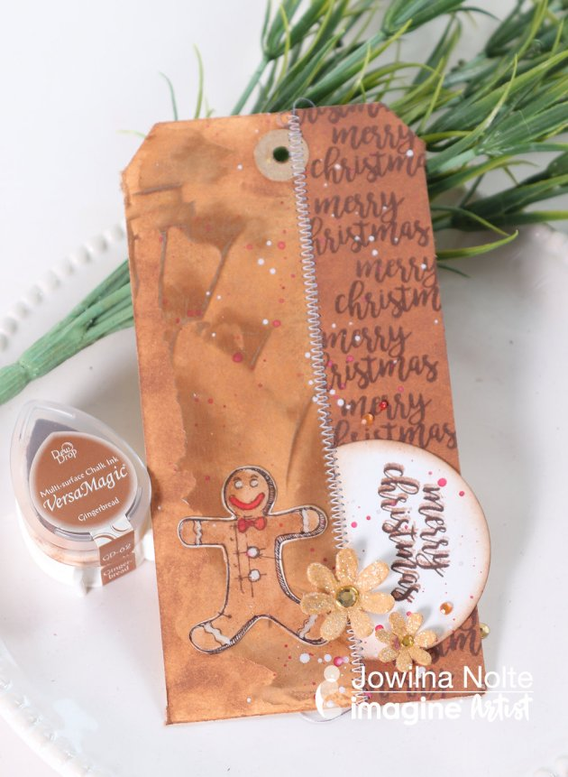 Learn How To Make A Gingerbread Theme Gift Tag