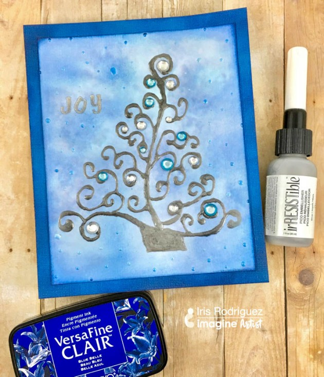 Learn How to Make a Silver Tree Christmas Card