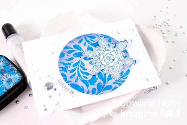 Create A Snowflake Theme Card To Say Thank You