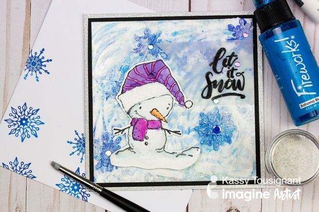 How to Make a Realistic Snowy Background on a Holiday Card