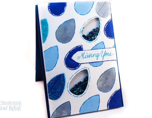 Learn How To Make A Raindrop Theme Shaker Card