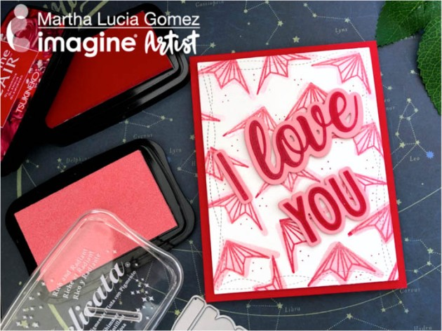 Create a Valentines Card with a Paper Airplane Theme