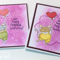 See How to Use Acrylic Paint and Embroidery on a Birthday Card
