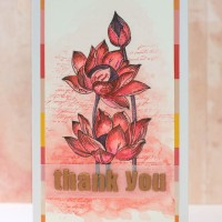 How To Create A Beautiful Embossed And Watercolor Thank You Card