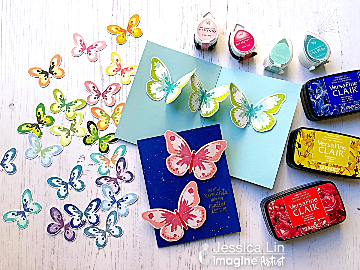 Create Colorful Pop-up Butterflies in a Card