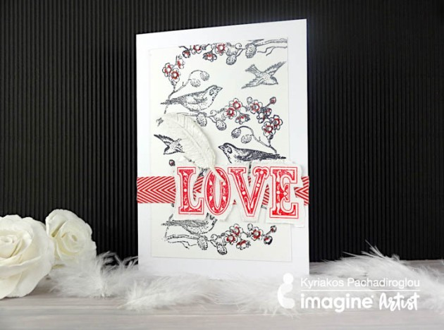 Create A Song Bird Theme Card For Valentines Day