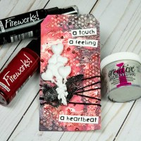 Learn How to Make a Mixed Media Tag for Valentines
