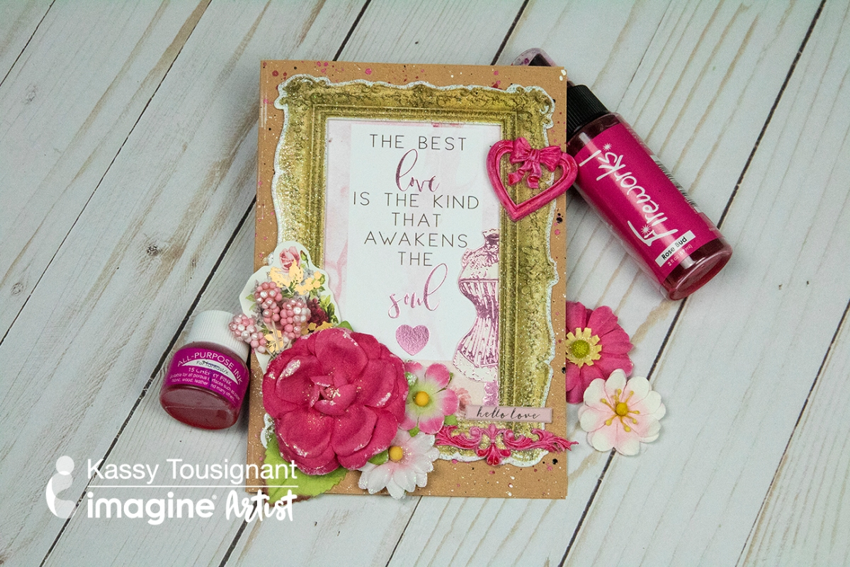 Learn How to Create a Layered Valentine's Card with Cute Frame