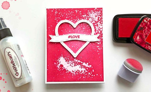 Create a Valentines with Emboss Resist Using Goosebumps Spray and VersaFine Clair